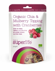 Superlife BIO Chia@Mulberry Topping s Brusinky